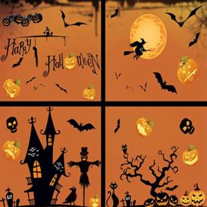 Halloween Wandaufkleber