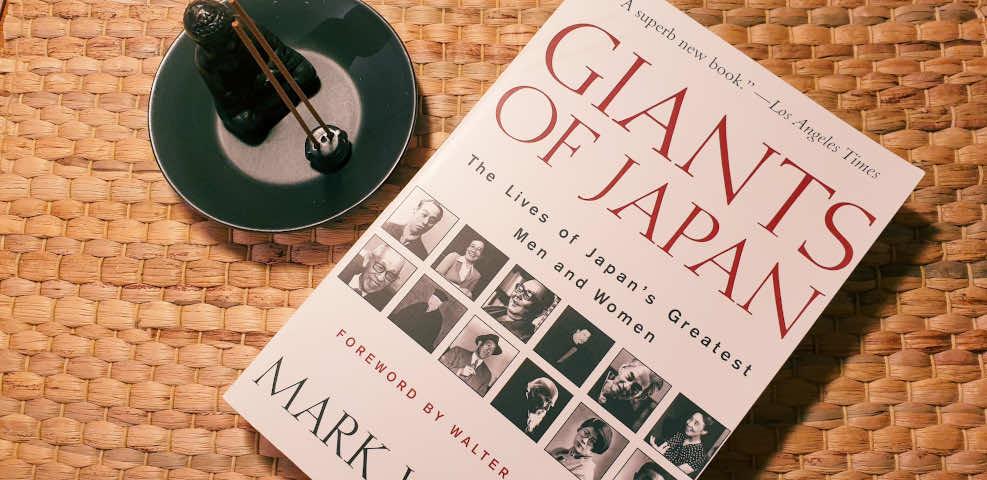 Das bild zeigt das Buch Giants of Japan von Mark Weston als Taschenbuch.